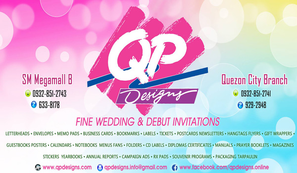 Qp Designs Metro Manila Wedding Invitations Invitation Makers Kasal