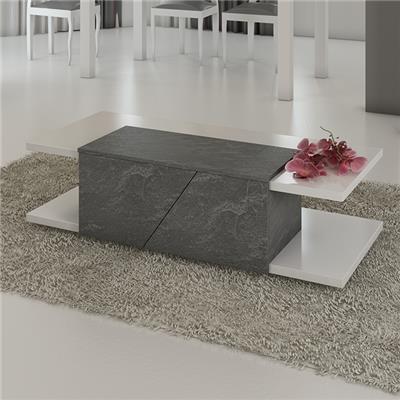 table basse blanc laque design julia
