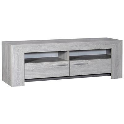 meuble tv couleur chene gris contemporain sandra