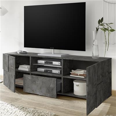 meuble tv 180 cm design anthracite dominos 5