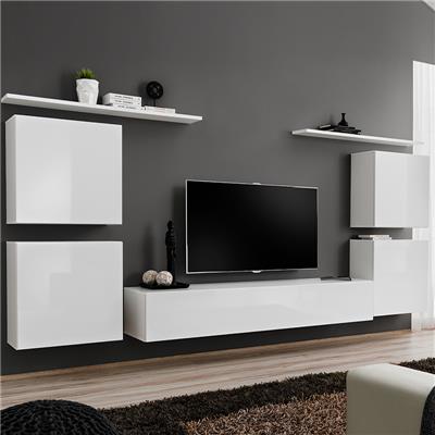 meuble tv mural blanc donatello 3