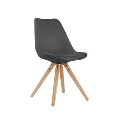 chaise style scandinave pietement bois lisa lot de 2