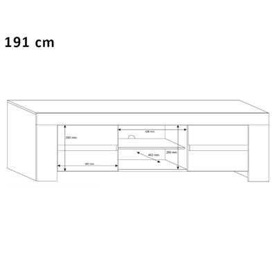 meuble tv hifi blanc laque design eleonore