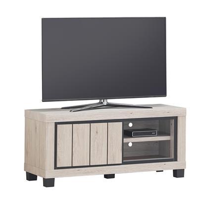 meuble tv 120 cm couleur bois naturel euphoria