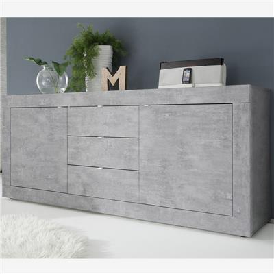 enfilade 210 cm design gris effet beton ariel 4