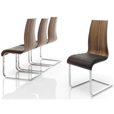 chaise en bois massif moderne augustin lot de 2
