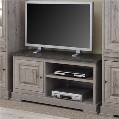meuble tv moderne couleur bois et ardoise arthus