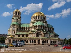 The golden domes of the Alexander Nevsky Cathedral are an unmistakable feature of Sofia