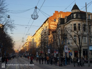 Vitosha Boulevard is lined with boutique shops and stylish cafés