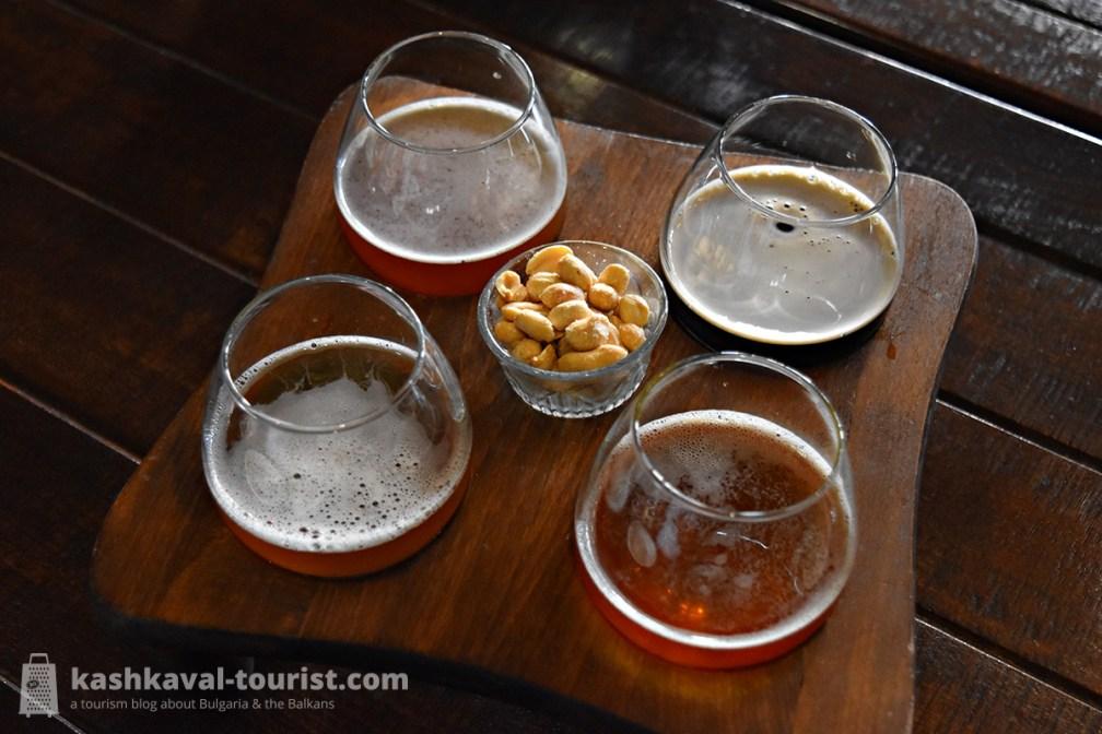 Sample craft-brewed Belgian ales in the Tryavna Beer House