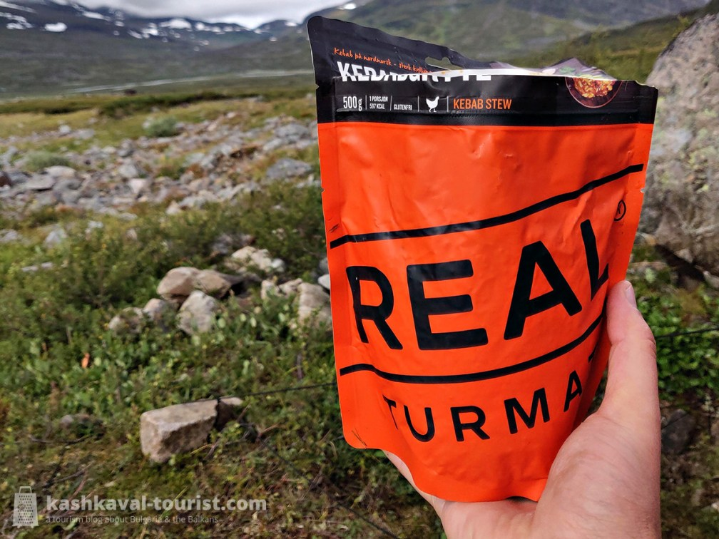 The all-you-can-carry freeze-dried hiking food from Real Turmat that you're supplied with was extremely high quality