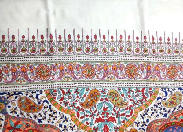 White Paper Mache Pashmina Shawl