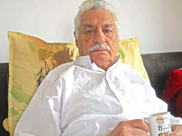 Agha Nasir Ali while resting in his room at his Rajbagh residence.