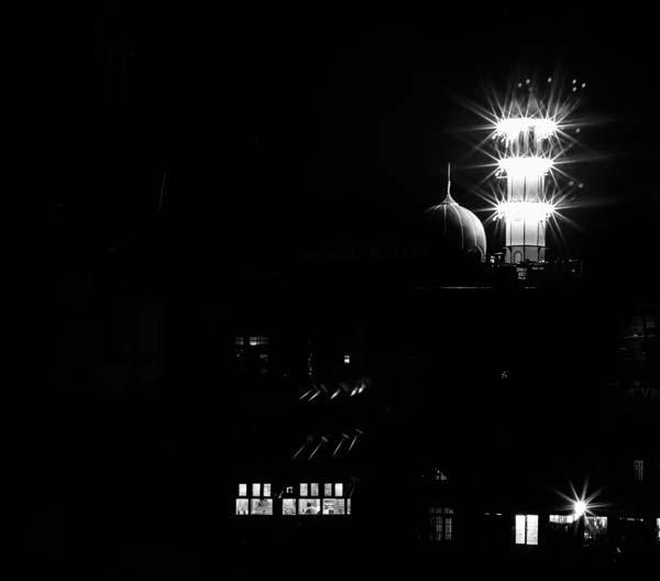 Illuminating minaret
