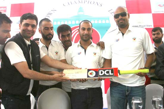 Indian cricketer Yusuf Pathan alongwith DCL management during its launching ceremony at Srinagar.