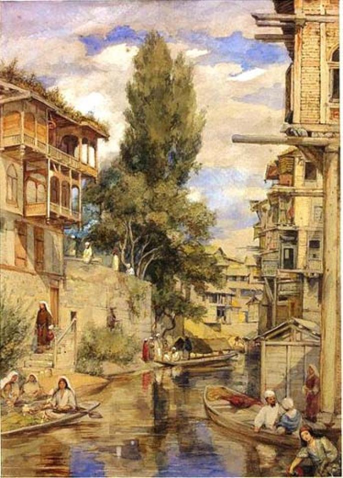 Life On Mar Canal: This canal that was passing through the heart of the city was painted by William Carpenter Junior sometime after 1853.