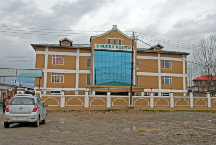 Noora Hospital in the outskirts of city on Srinagar-Muzzaffarabad road. (Pic: BILAL BAHADUR)