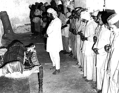 Funeral of Zulifkar Ali Bhutto inside central jail Rawalpindi.