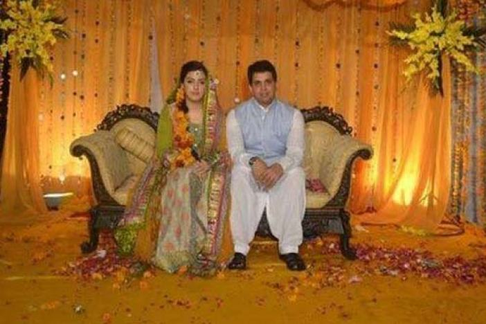 NC leader M Shafi Uri's doctor son with his bride from Muzafarabad, PaK