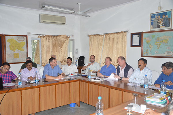 Reviewing the progress: Engineers from LI, Voith and SPDC on the eve of completion of Stage-II.