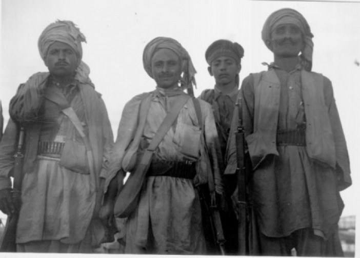 Tribal fighters who were captured in Kashmir in 1947