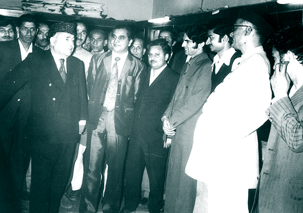 Ved Bhasin with Afzak Beg.