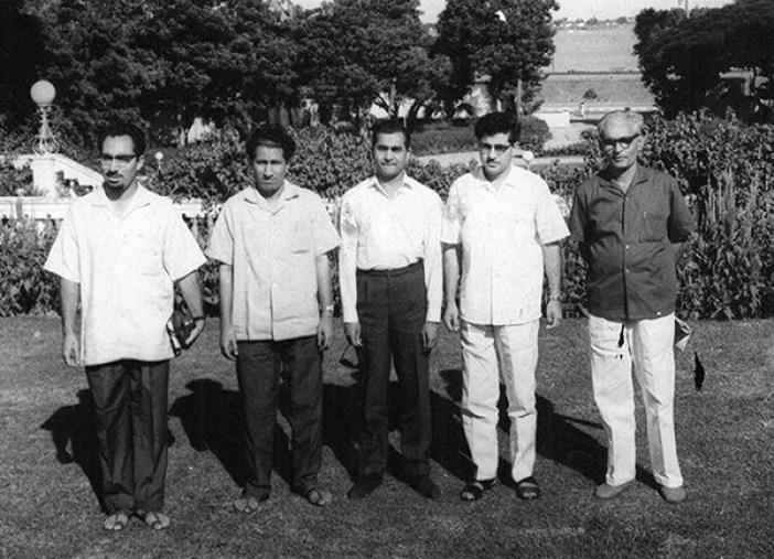 From L to R, Bansi Parimu, Sofi Ghulam Mohammad, Ved Bhasin, Shamim A Shamim.