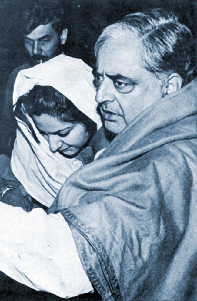 Mufti Sayeed with Rubaiya after her release. Photo Courtesy: Sunday
