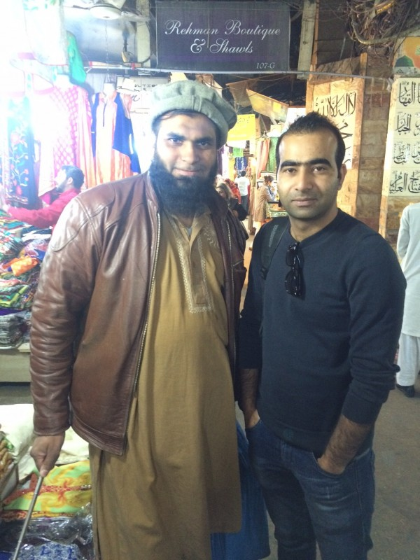 With Sheraz Khan at Liberty Market, Lahore.