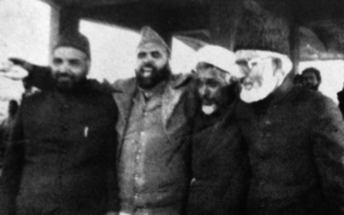 The MUF Forum: (L to R) Ghulam Mohammad Bhat, Qazi Nisar, Maulana Abbas Ansari and Syed Ali Geelani. (Photos in special arrangement with MERAJUDDIN)