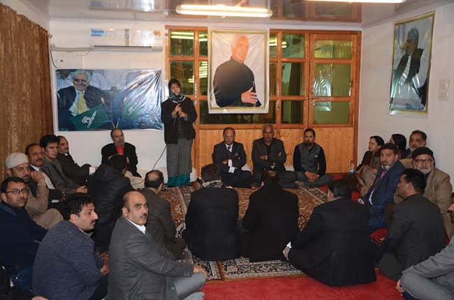 Mehbooba addressing her party law makers