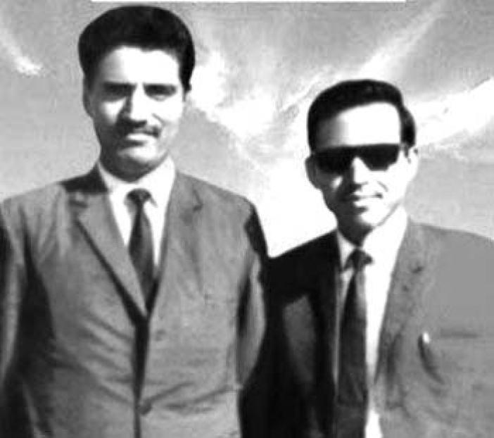 Amanullah Khan with Mohammad Maqbool Butt.