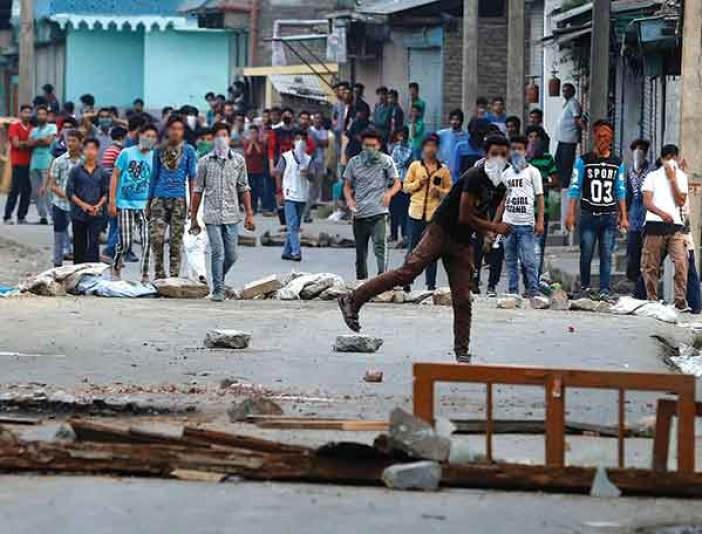 Protests amid clashes broke out in Kashmir after Burhan's killing.