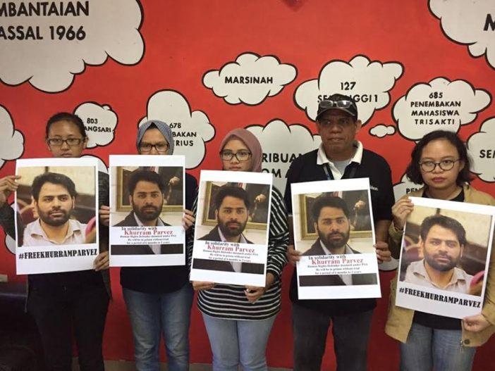Support for Khurram Parvez in Indonesia.