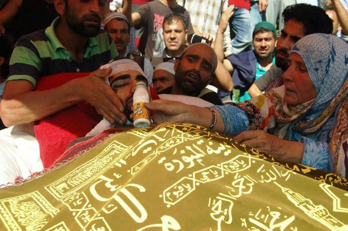 Funeral of Basit Ahmad Ahanger.