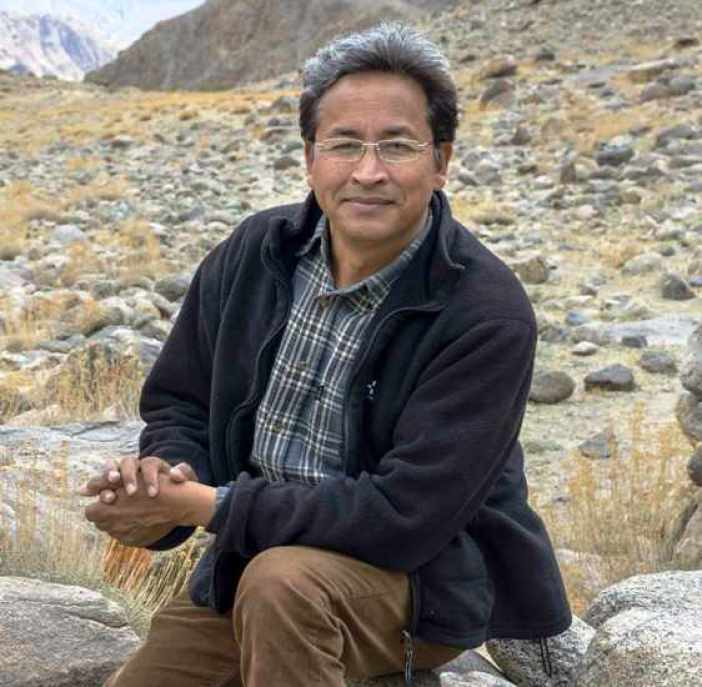 Engineer Sonam Wangchuk, the man who was Phunsukh Wangdu, a role that Aamir Khan played in his film 3 Idiots