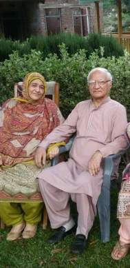 Khairat Mohammad with Tahira Sultana on his visit to Bhaderwah in 2015.