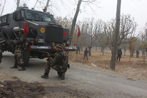 Budgam Encounter Update: Four Militants Believed To Be Trapped inside, Exchange of Firing From Both Sides Going On
