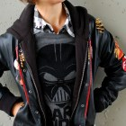 star wars rebel scum darth vader gray black white buffalo plaid stud outfit ootd whatiwore2day