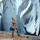 mural outfit ootd tiger black white sacramento