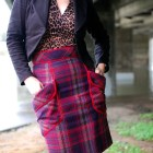 plaid leopard pattern mix ootd whatiwore2day