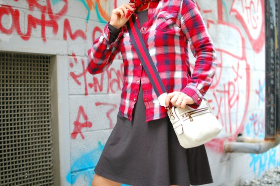 plaid flannel dress ootd whatiwore2day