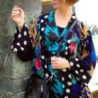 kimono polka dot pattern mix ootd whatiwore2day substitute teacher