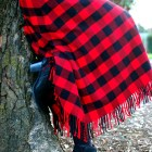 wool plaid skirt red black ootd whatiwore2day