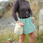 consignment mint tweed skirt