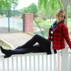 stripes plaid pattern mix ootd whatiwore2day
