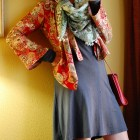 kimono jacket pompom scarf travel outfit ootd whatiwore2day