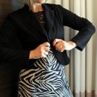zebra tux jacket daily outfit blog ootd whatiwore2day