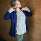 navy blazer olive sweater daily outfit blog ootd whatiwore2day