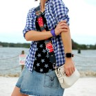 disney daily outfit blog gingham star pattern mix guitar strap bag whatiwore2day ootd